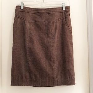 Lux Pencil Skirt Brown Size 0